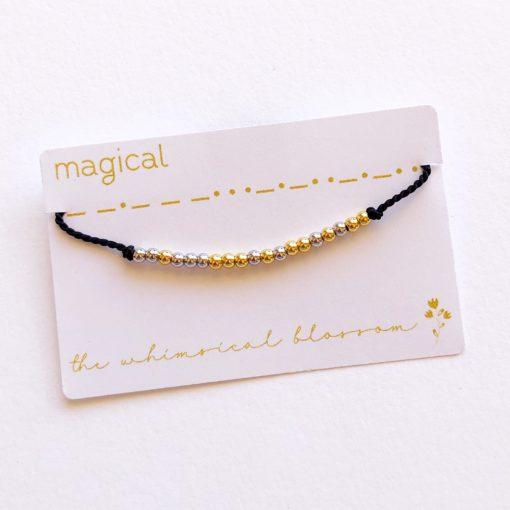 Magical Morse Code Bracelet